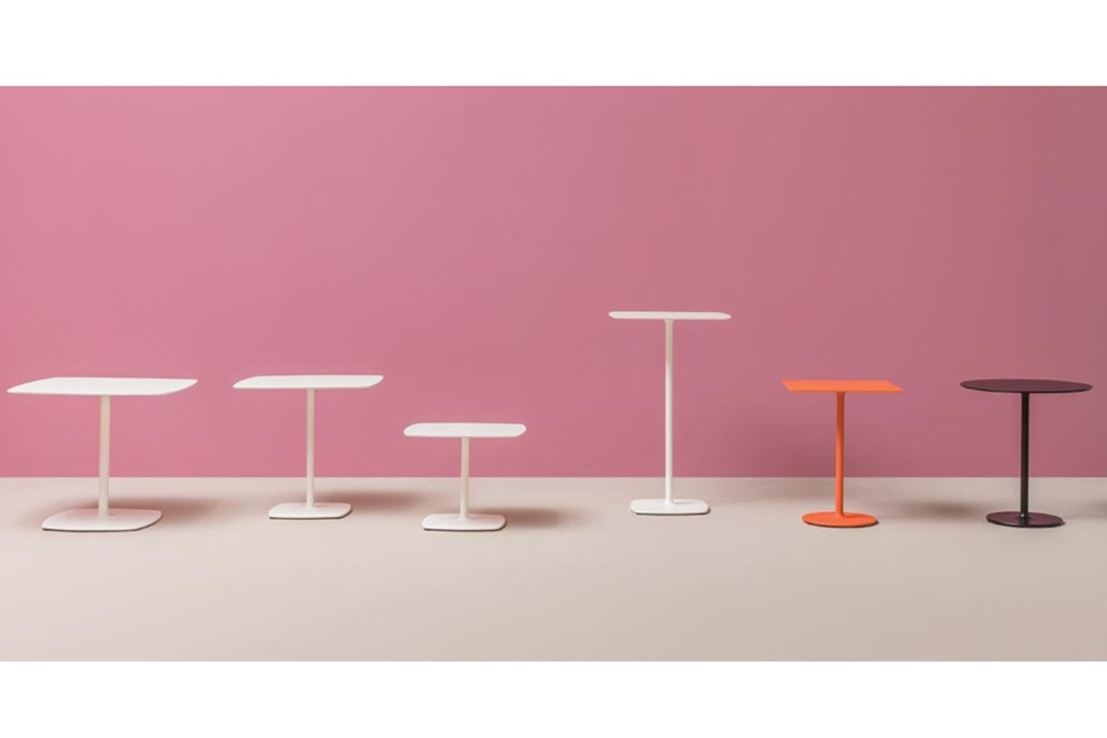 STYLUS 001.jpg Italy_STYLUS 5400_DESIGN:PEDRALI R&D_minimalistic look_organic outline_slim central column_rounded corners_flat square base_both square and round table tops. STYLUS 001.jpg