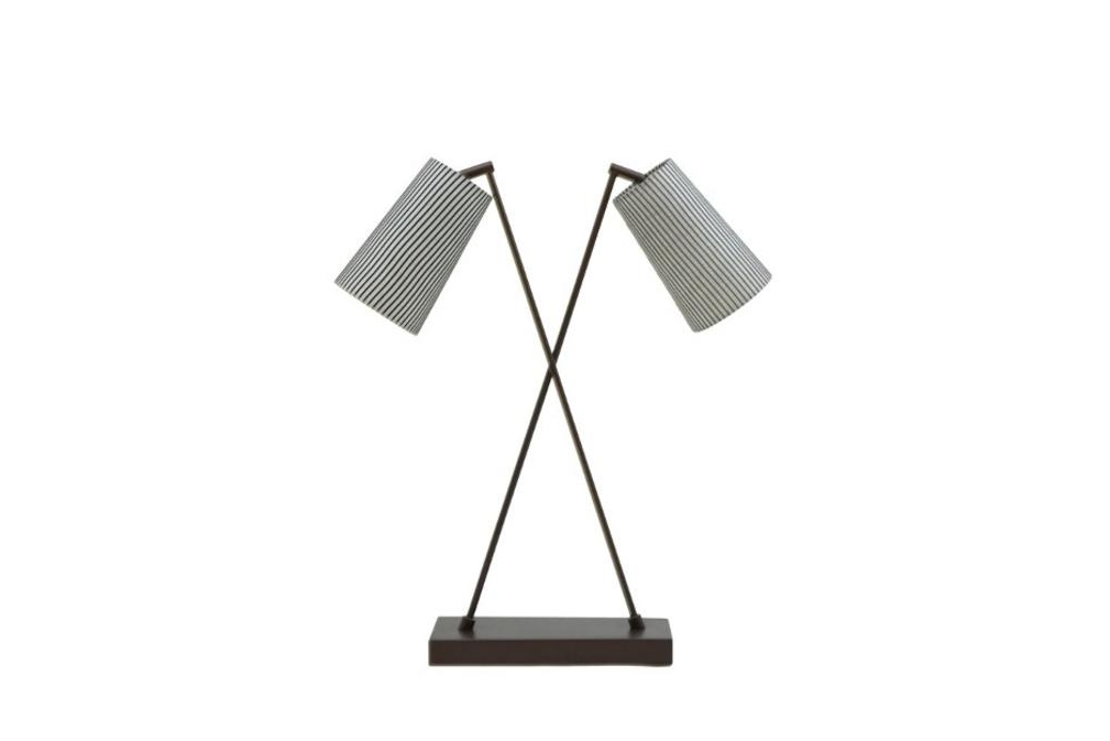 Bronze Crossover Double Shade Bloomingdales lamps