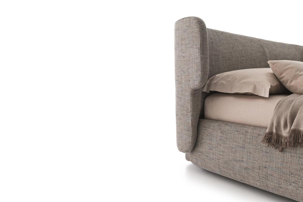 claire letto 03 b Claire Bed - Ditre Italia - Leather Fabric - Made in Italy Made in Italy Ditre Italia Leather Fabric Mix Claire bed italian comfort mixed materials stunning bedroom industrial design