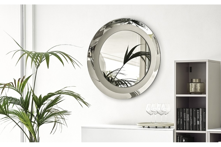 CG Surface MIrror 1807 1%5B4%5D.jpg Surface Mirror. Calligaris. Designed by Caligaris studio. Made in Italy, Round. Oval. CURVED FRAME, MIRRORED ON THE OUTER SIDE AND SATIN FINISHED ON THE INNER SIDE. Bronze. Grey. CG Surface MIrror 1807 1%5B4%5D.jpg