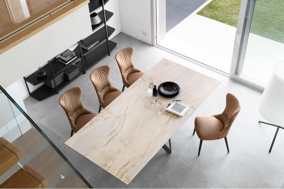 Cartesio Pedestal Rosemary cs4092 RC P15 P4C cs1850 LH L01 UP Cartesio Table - Calligaris cs4104 cs4092 Cartesio Table Pedestal Contemporary Ceramic Wood Calligaris