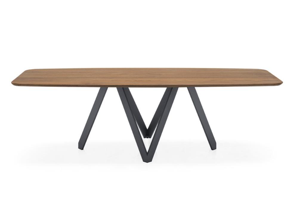Cartesio cs4092 EL P201 P16 front Cartesio Table - Calligaris cs4104 cs4092 Cartesio Table Pedestal Contemporary Ceramic Wood Calligaris