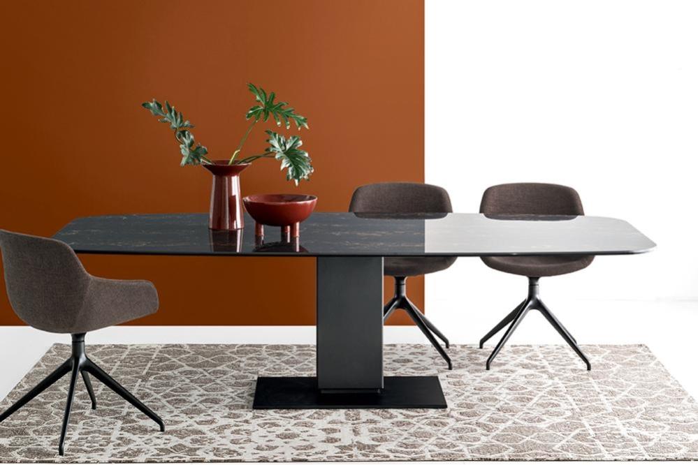 Echo Igloo cs4072 FEC P15 P3C cs1835 SQ2 7166 Echo Fixed Pedestal Table - Calligaris cs4072 cs4072 Echo Table Pedestal Contemporary Ceramic Wood Calligaris