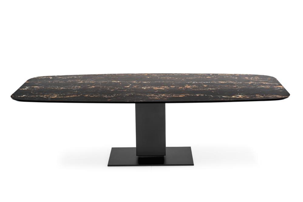 Echo cs4072 FEC P15 P3C front Echo Fixed Pedestal Table - Calligaris cs4072 cs4072 Echo Table Pedestal Contemporary Ceramic Wood Calligaris