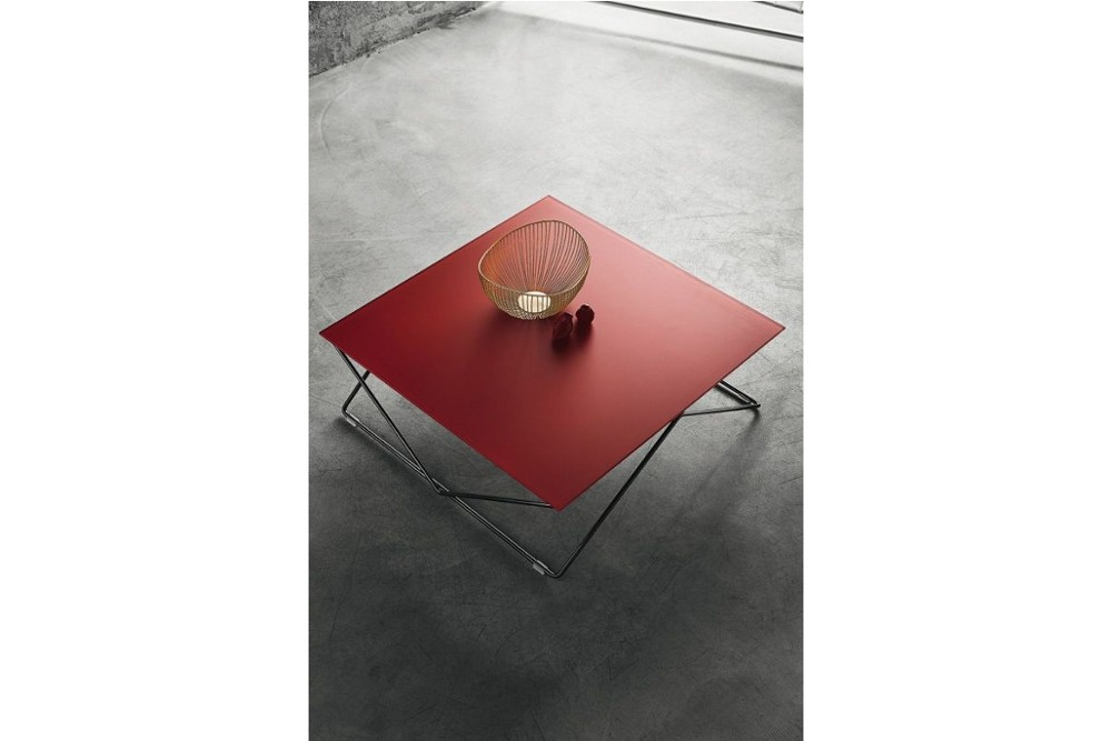 flexus%203.jpg Flexus coffee table_By Bontempi casa_Made in Italy_ Classic square or round top_ Minimilist cross-legged frame-Metal frame_Stylish top-lacquered glass or hide leather options flexus%203.jpg