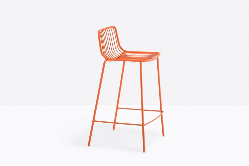 Nolita 3657 04 zoom.jpg Nolita Stool_By Pedrali_Made in italy_ By CMP Design_outdoor seatings_metal garden chairs_Barstool with steel tube frame powder coated for outdoor use_ Seat height 650 mm. Nolita 3657 04 zoom.jpg
