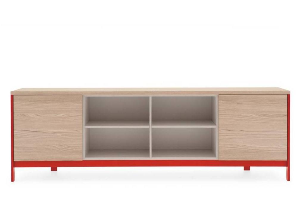 factory sideboard 2 door open shelves red front Calligaris Factory storage cs6042