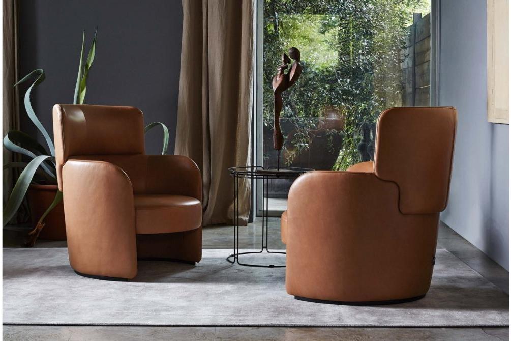 Claire Setting Claire Armchair Claire Ditre Italia Tan Leather Armchair