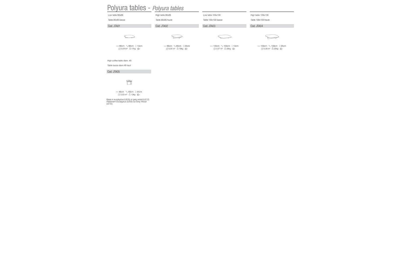 polyura SCHEMATIC polyura SCHEMATIC.png DITRE ITALIA schematic DINING COFFEE TABLE SOFA