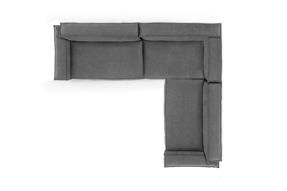 Davis Modular LHS Corner Stone Grey Davis Sofa - Amura - Stone Grey Davis Sofa Modular Stone Grey Fabric Amura made in Italy Contempo French Seam