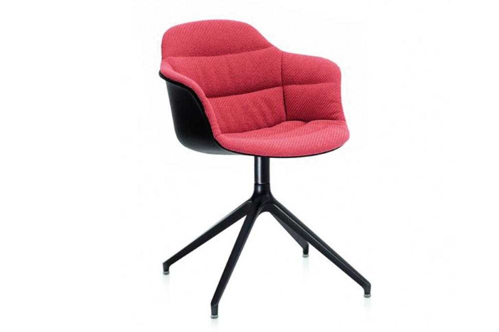 Mood Covered Swivel Carver chair 4 by bontempi casa Mood Covered Swivel Carver chair 4 by bontempi casa mood 34 23r m055 z005 tkc04 1.jpg