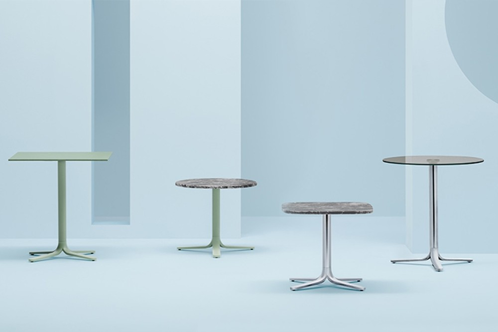 Fluxo%205465%203.jpg FLUXO 5465_DESIGN:LUCA CASINI_primary geometric shapes_stem-like base_ clean and minimalist lines._Die-cast aluminium base with four legs. Height 730 mm. Available in polished or powder coated aluminium and titanium. Fluxo%205465%203.jpg