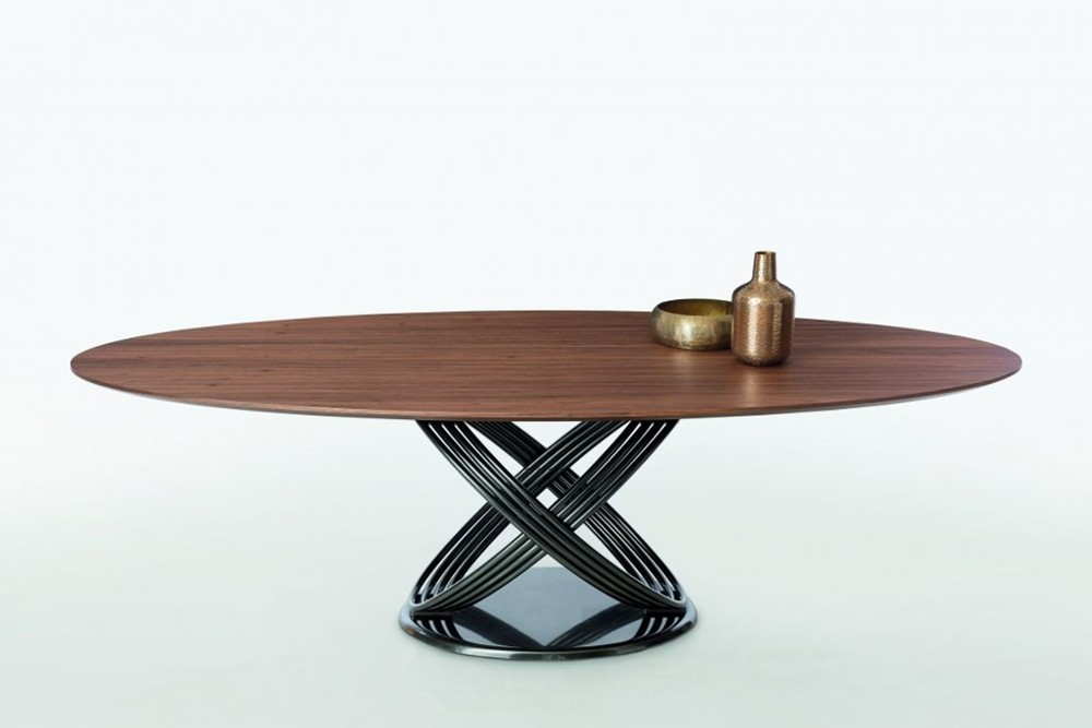 Fusion.jpg Fusion Dining Table_By Bontempi Casa_ Made in Italy_ Orbital Metal Base wood venner top_ Oval top Fusion.jpg