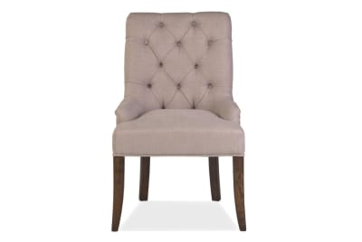 Armagnac Studded Fabric Dining Chair