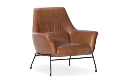 Mies Armchair: Tan Leather
