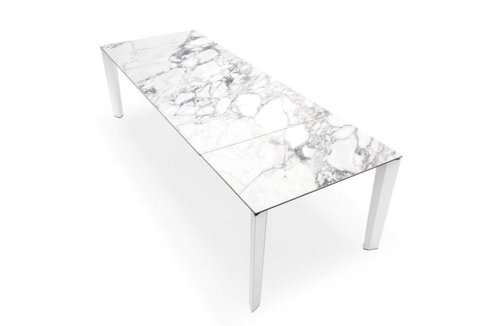 Delta Marble Open  Delta Dining Table  Marble Top Extension