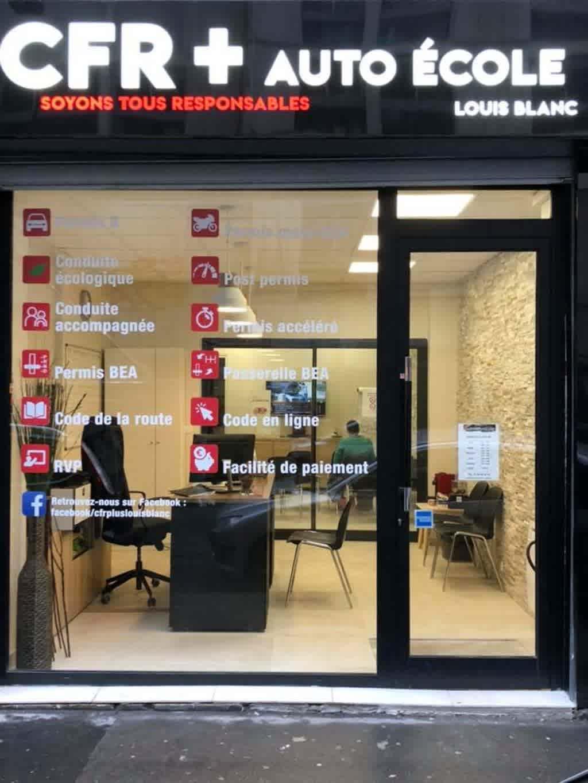 Auto-école CFR+ - Louis Blanc - Paris