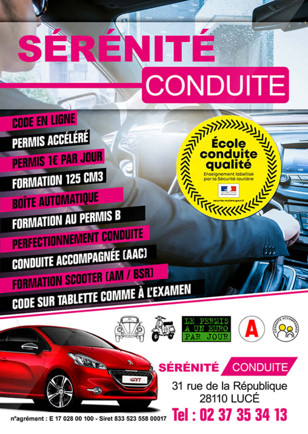 Sérénité Conduite - LUCÉ