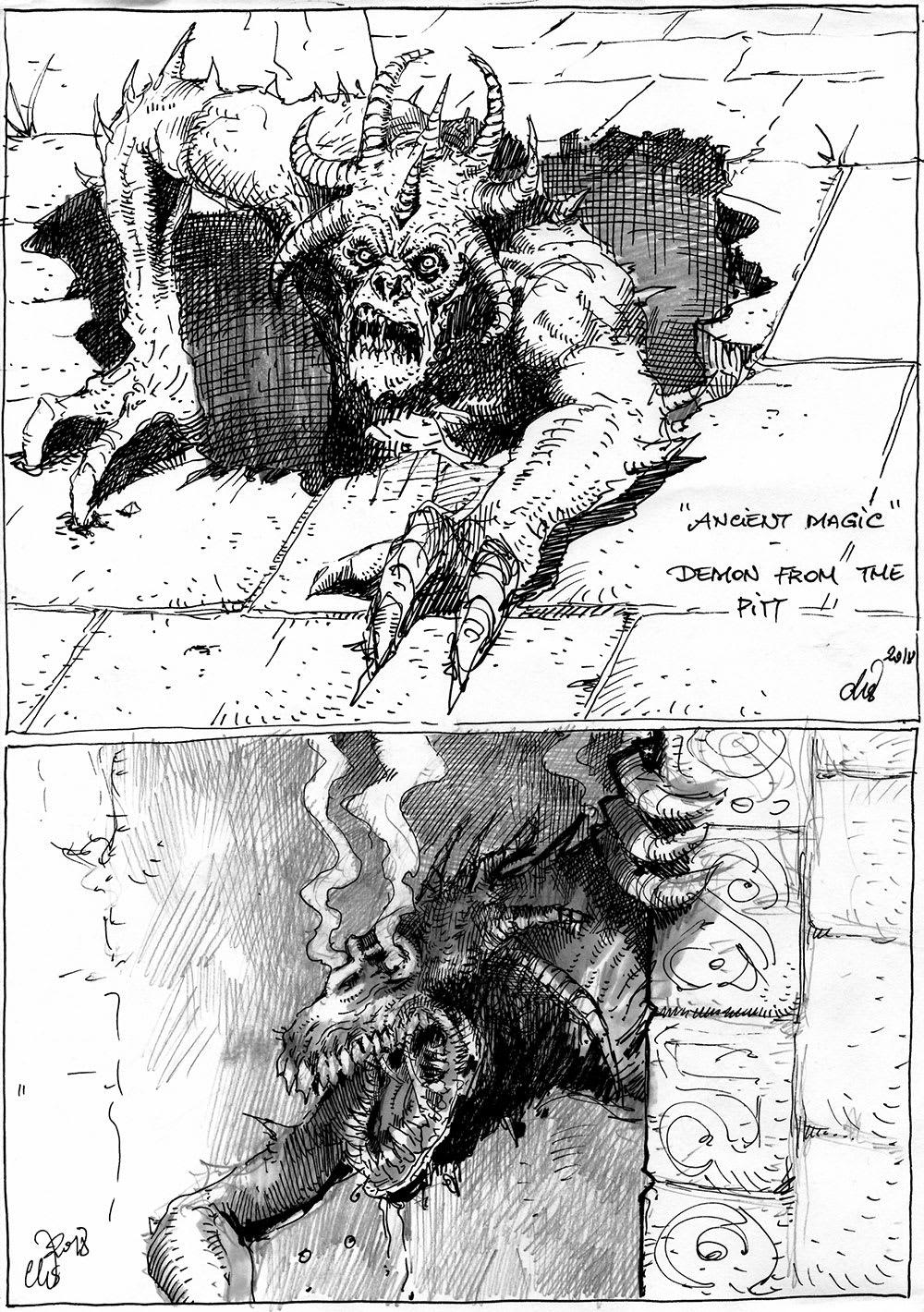 Ancient Magic Sketches