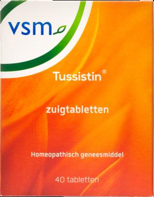 Afbeelding: Homeopathisch geneesmiddel VSM Tussistin tabletten