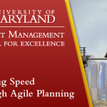 Driving Speed through Agile Planning