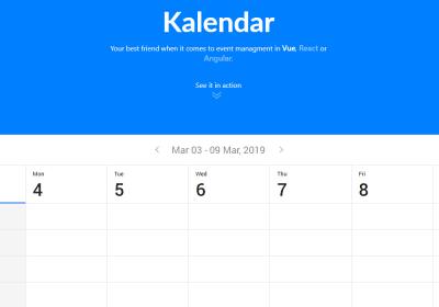 Calendar - Vue js Projects