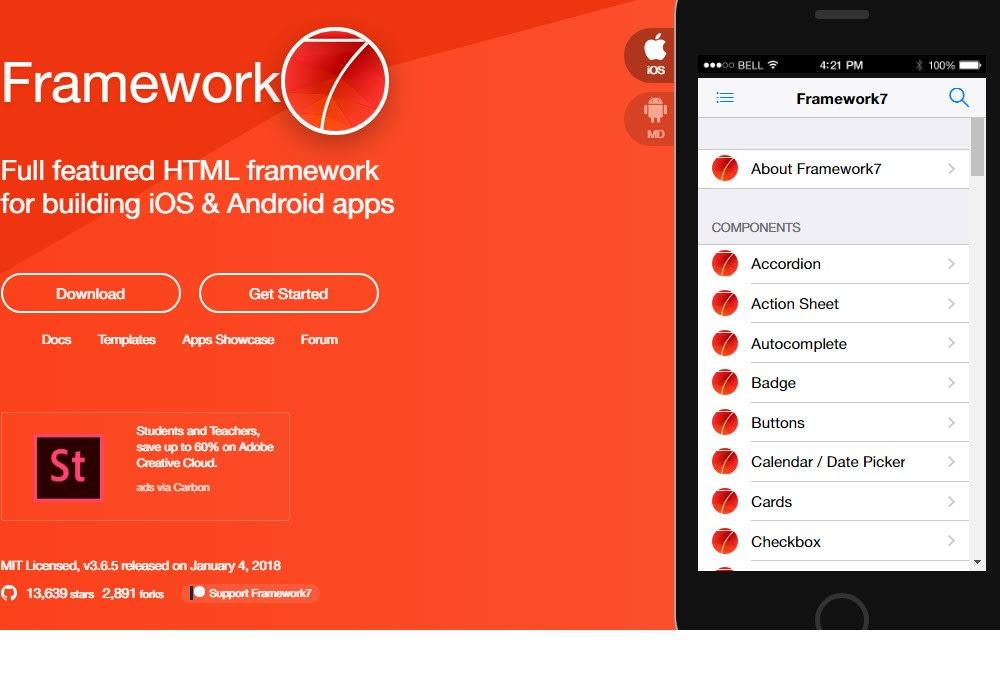 Framework 7 - Vue js Projects