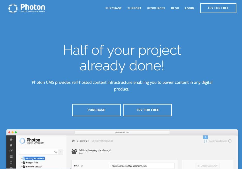 Photon CMS - Vue js Projects