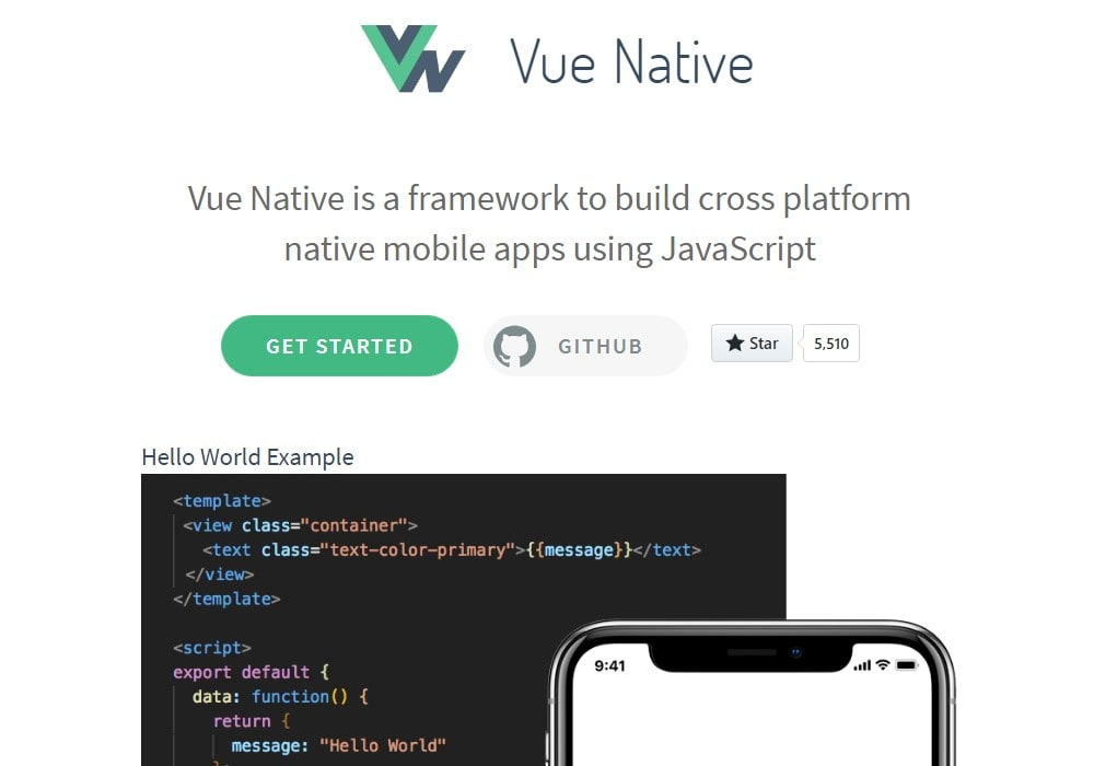 Vue Native - Vue js Projects