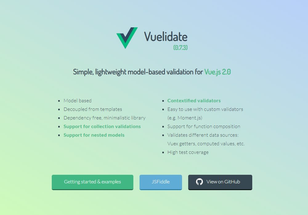 vuelidate - Vue js Projects
