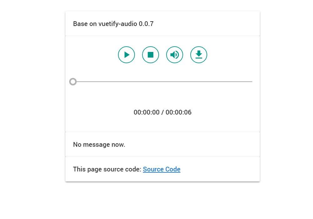 Vuetify Audio - Vue js Projects
