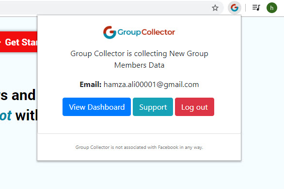 Group Collector Extension Activated