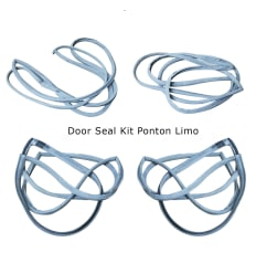 Door Seals Set  - W120 W121 Ponton Limousine  - 1207200378 1207200478