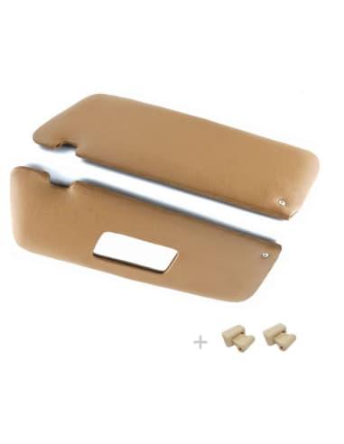Zonnekleppen met clipjes Creme SL107 SLC107
