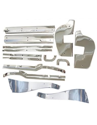 14-Delige Chrome Deur Sierlijsten Kit W113 230SL 250SL 280SL