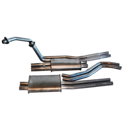 Complete Exhaust Line Stainless Steel - 250SL 280SL W113 Pagoda