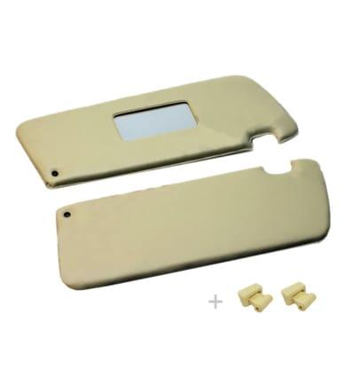 Zonnekleppen met clipjes Creme SL107 - PRE-ORDER