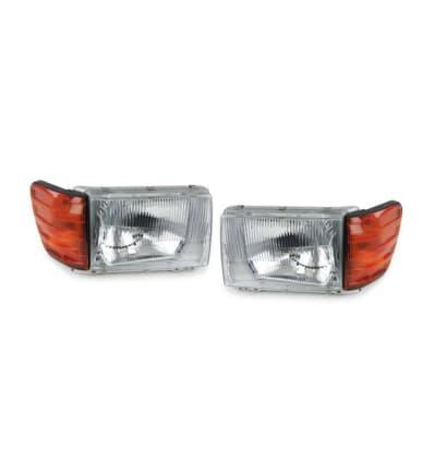 R107 Premium Vacuum European Headlights Set