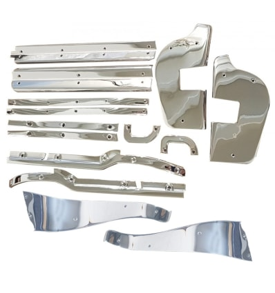 14-teiliges Chrom Tür Dekorleisten Kit W113 230SL 250SL 280SL