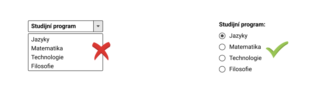 UX tip: Zobrazte rovnou všechny možnosti