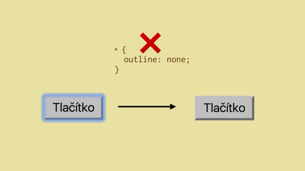 Outline na nativním HTML tlačítku