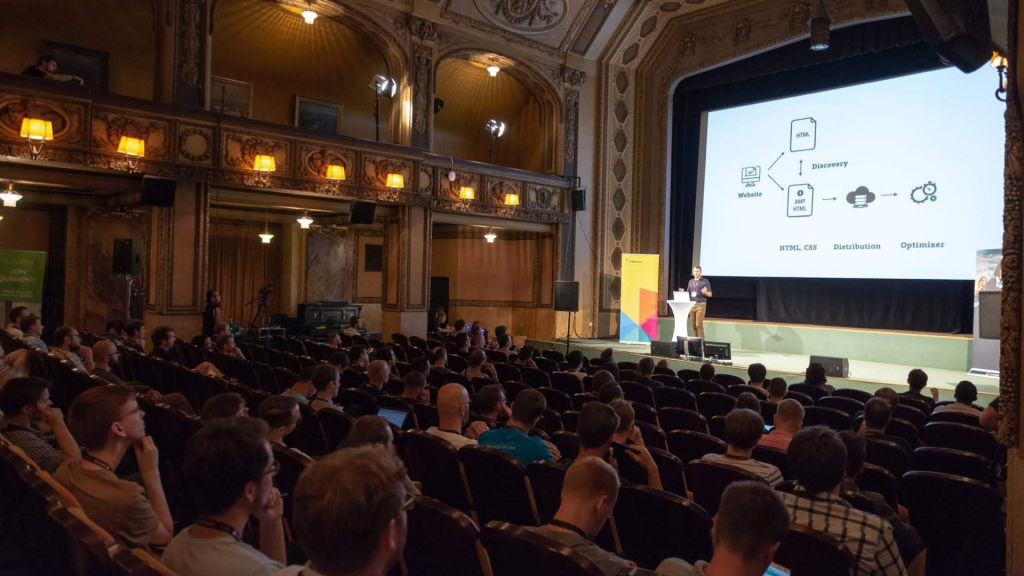 Michálek přednáší na WebExpo
