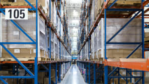 Full warehouse shelves with limited capacity