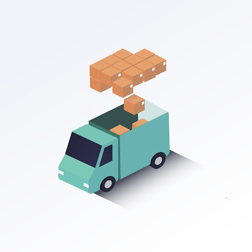 truck with boxes inside