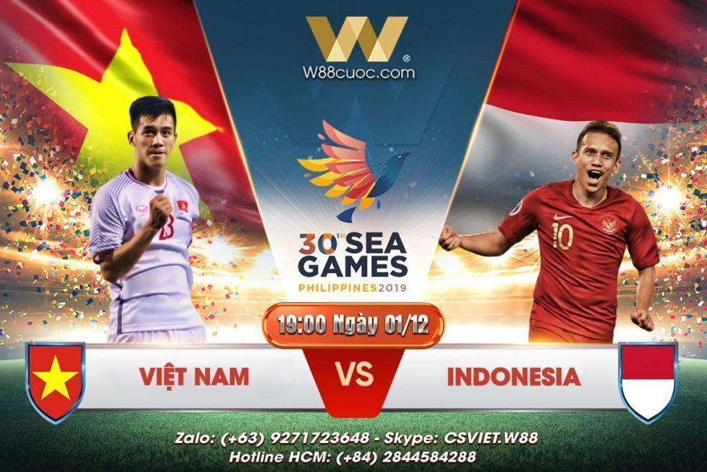 SOI KÈO VIỆT NAM VS INDONESIA | 19:00 NGÀY 01/12/2019 - W88 MINIGAME