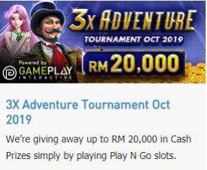 Cập nhật khuyến mãi: Giải đấu 3x Adventure tháng mười 5.000 USD