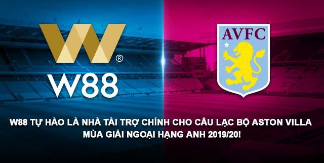 W88city nhà tài trợ chính của Aston Villa