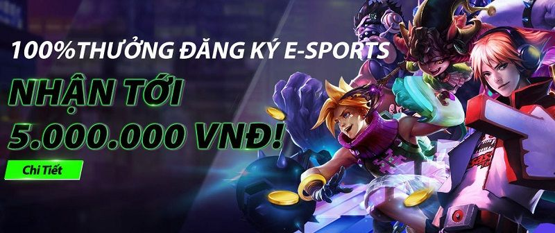 Đăng ký E-sports tại JBO, nhận phần thưởng 100% lên đến 5.000.000 VND