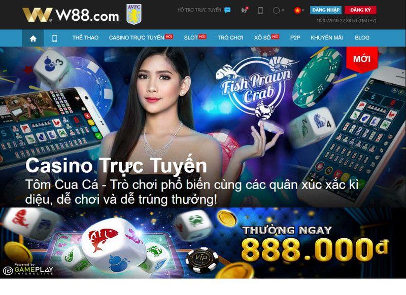 Nhận thưởng ngay 888 VND khi thắng tại sản phẩm Tôm Cua Cá tại W88