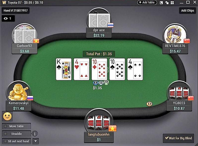 Làm thế nào để giành chiến thắng lớn trong một cổ phần thấp Poker trực tuyến giải đấu